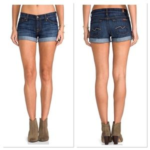 7FAMK   Jean Shorts Roll Up Size 25